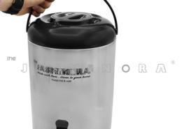 کلمن 10 لیتر -جاسمینورا - دارای یک لیوان - مخزن سفید -